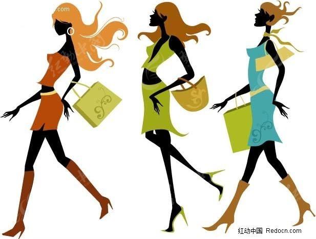 购物美女 时尚美女 矢量美女  美女图片 女人图片 女性图片 人物素材