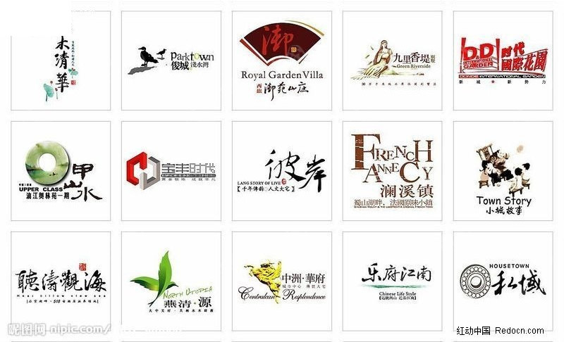 房地产 标志 字体设计      公司标志 公司logo 企业标志 矢量素材图片