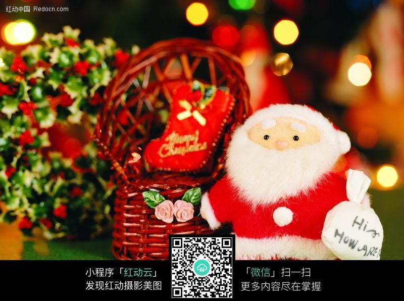 布艺玩具圣诞老人图片