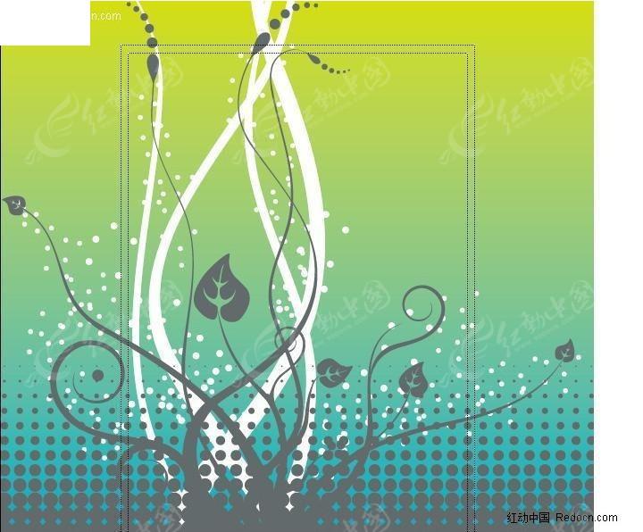 简笔画花边素材; 下载《藤蔓植物花纹矢量图》[一星