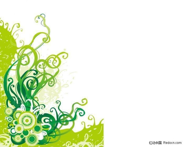 免费素材 矢量素材 花纹边框 花纹花边 藤蔓角花植物花纹矢量图