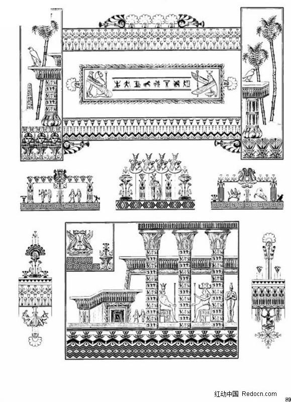 欧式古典建筑物装饰花纹