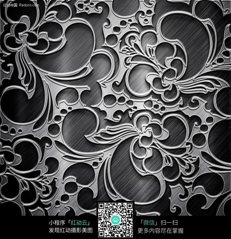 质感的金属花纹雕刻设计
