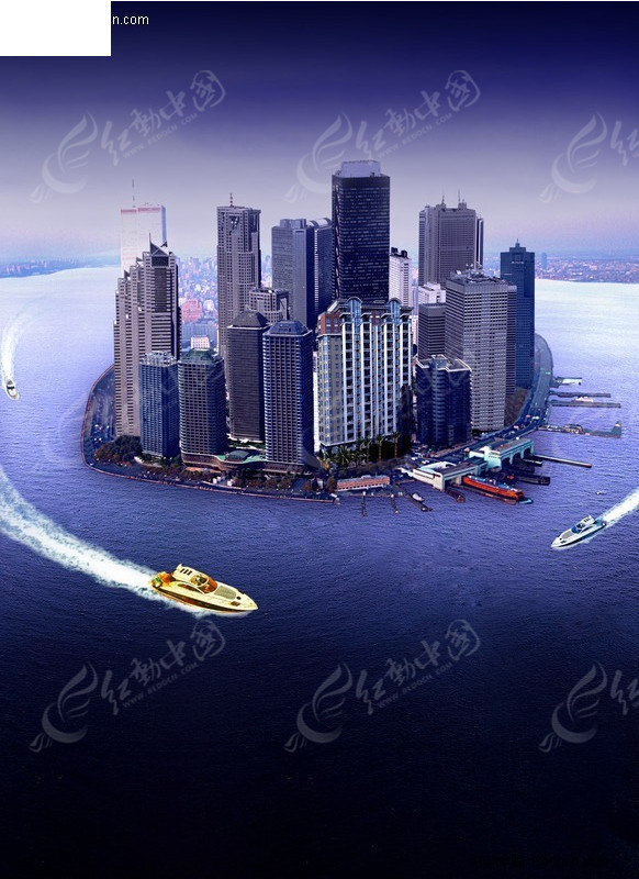 海岛房地产海报设计素材