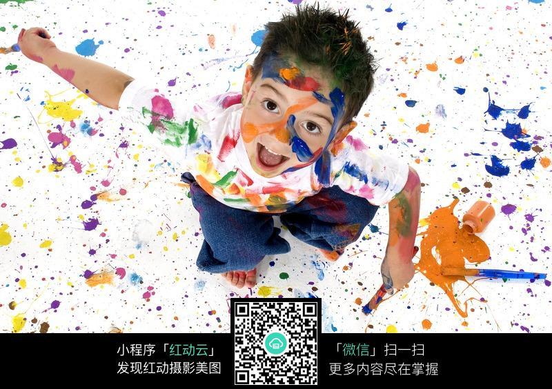 免费推广_欢乐地油漆儿童涂鸦图片免费下载_红动网