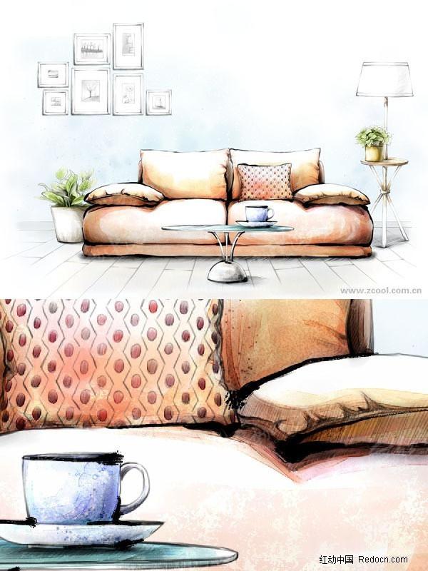 室内设计手绘效果图