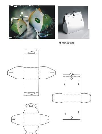 便携式蛋糕盒包装设计