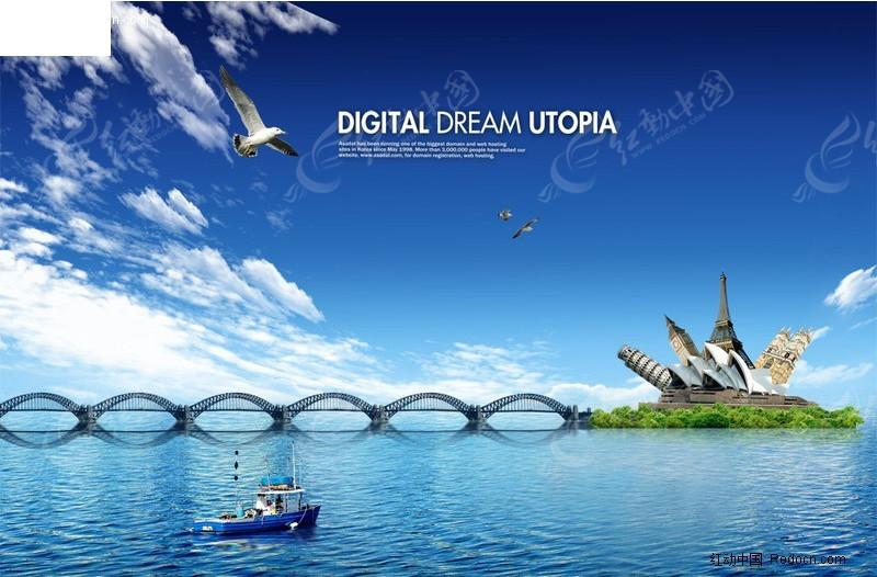 海岛跨海大桥图片素材_风景