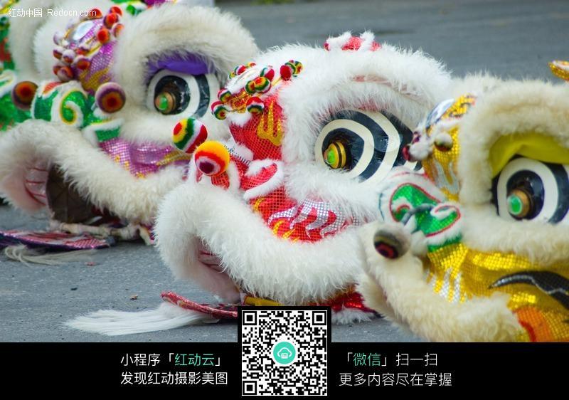 中国传统民间手工艺品-舞狮狮头