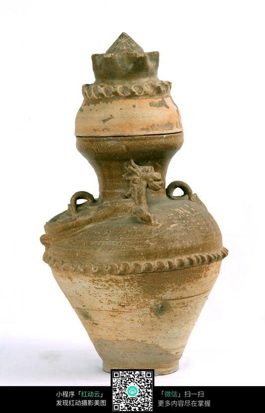 古代葫芦形陶瓶