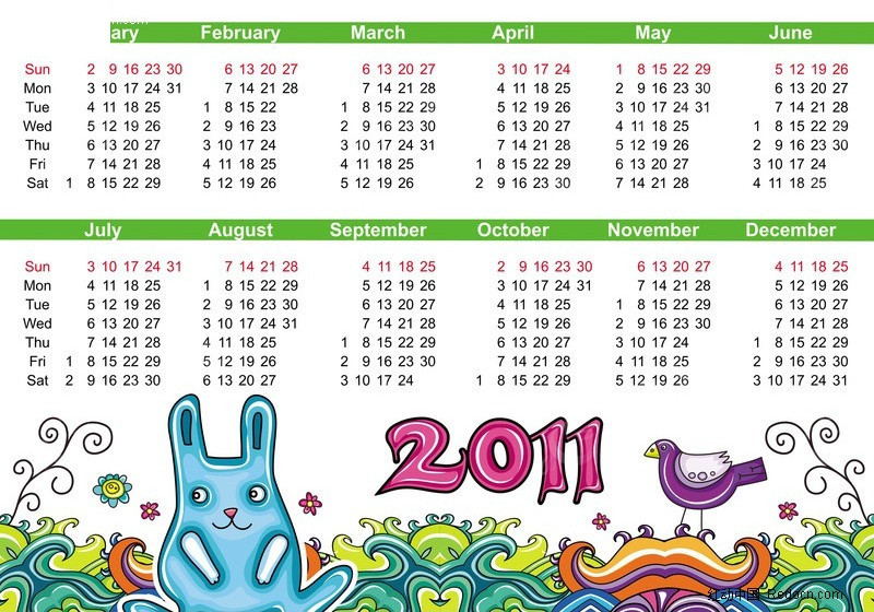 2011年手绘日历