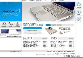 电子产品(笔记本电脑)的韩国网页模板