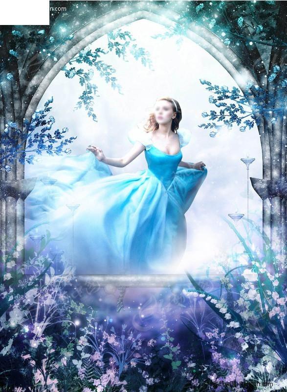 梦幻天使美女婚纱照