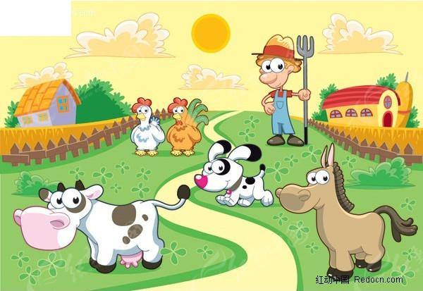 快乐农场矢量素材EPS免费下载 编号308456 红动网