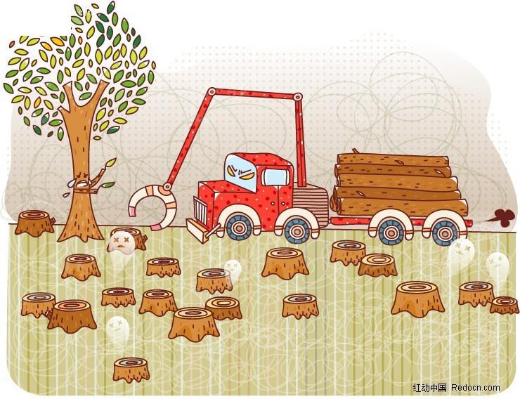 森林遭砍伐