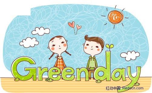 环境保护卡通人物