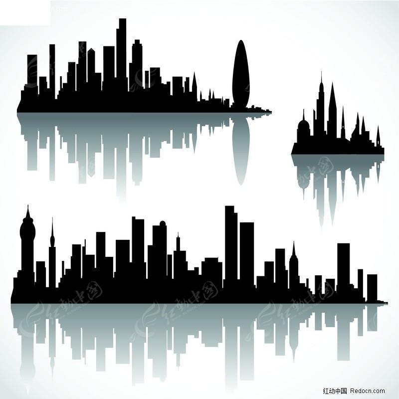 都市楼房剪影素材矢量图 编号 310229 建筑景
