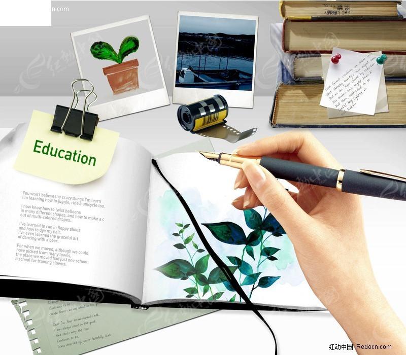 设计师在乱的办公桌面素材图片