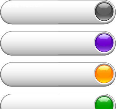 红色水晶按钮素材_金属质感水晶按钮AI矢量素材EPS免费下载_红动网