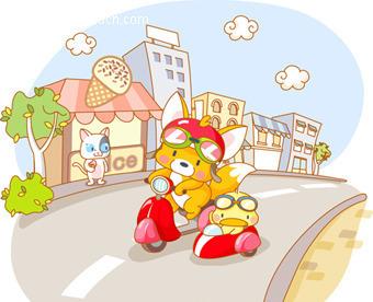 免费素材 矢量素材 矢量人物 卡通形象 公路上的小动物  请您分享: 素