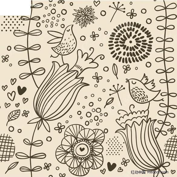 免费素材 矢量素材 花纹边框 花纹花边 手绘花  请您分享: 素材描述