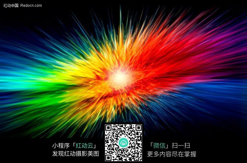 爆炸风格的彩色渐变线条背景