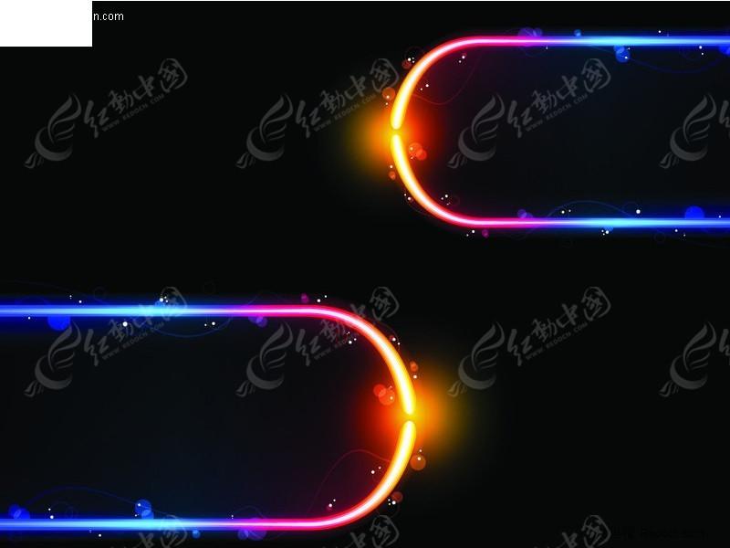 炫彩发光圆形矢量素材