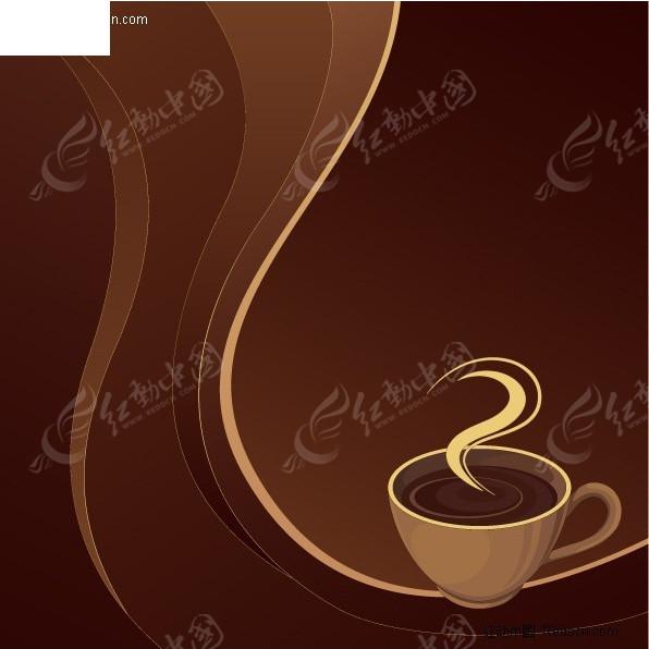 咖啡背景素材矢量图