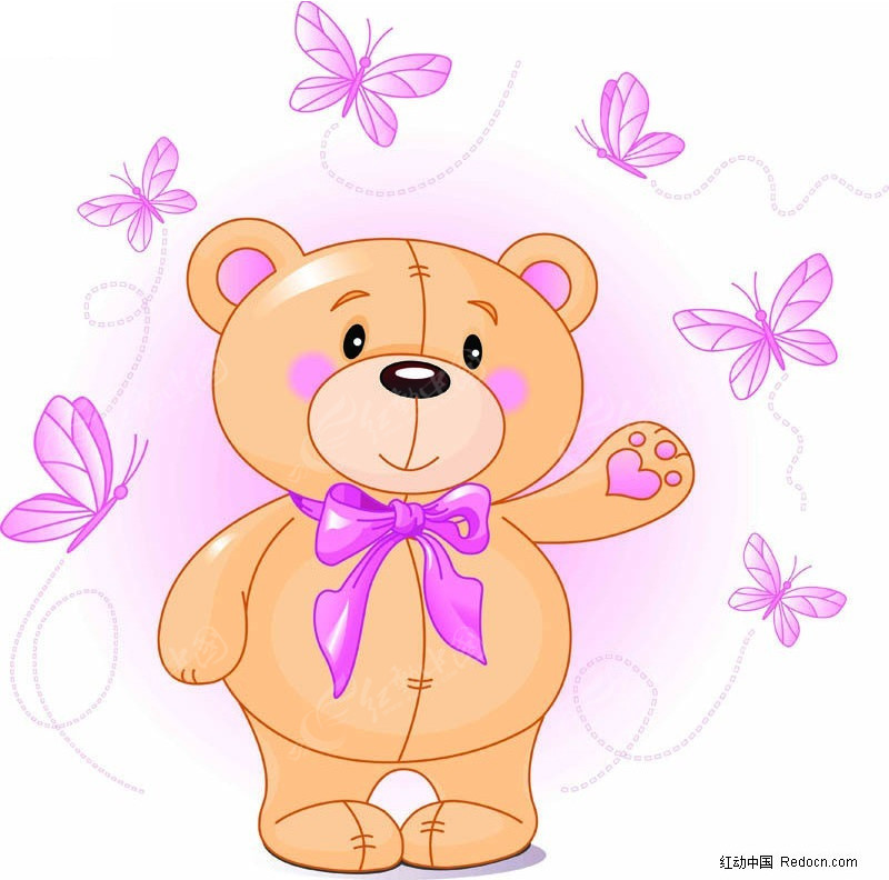 抓蝴蝶的小熊