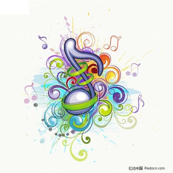 流行音乐符号矢量图EPS免费下载 底纹背景素材图片