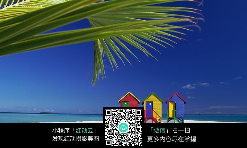 海边 海岸 沙滩 小木屋 海水 大海 海洋 风景图片 摄影图片