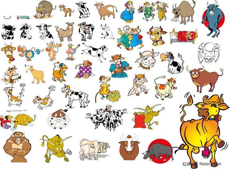牛的卡通形象