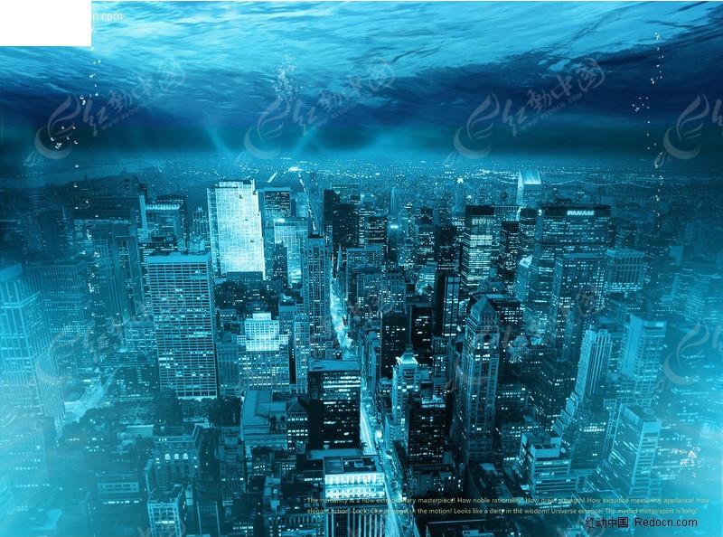 海海底城市图片素材