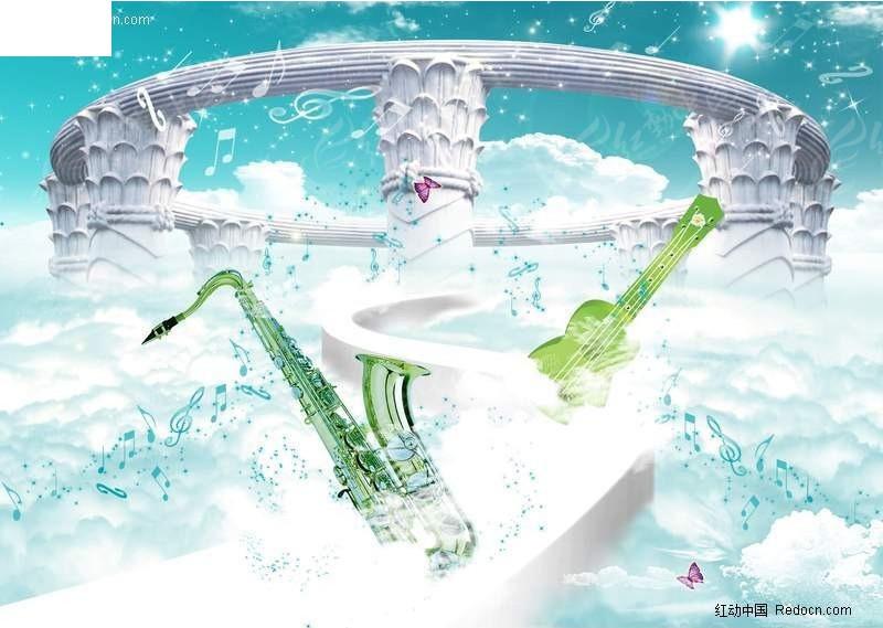 小提琴 萨克斯音乐海报宣传