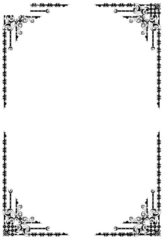 日本素材花纹花边 边框 相框16_h