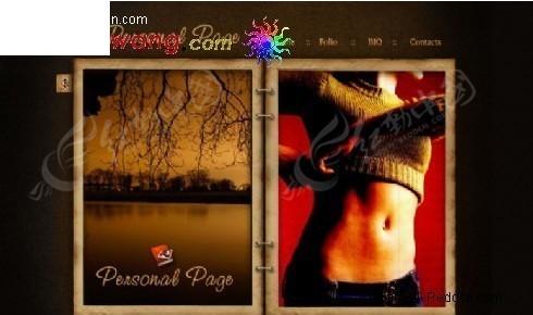 复古风格个人主页网页模板图片