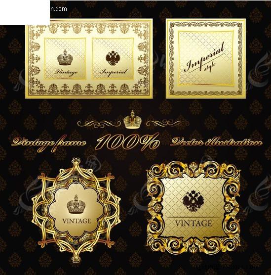 欧式花纹背景墙 金色欧式花纹墙纸设计