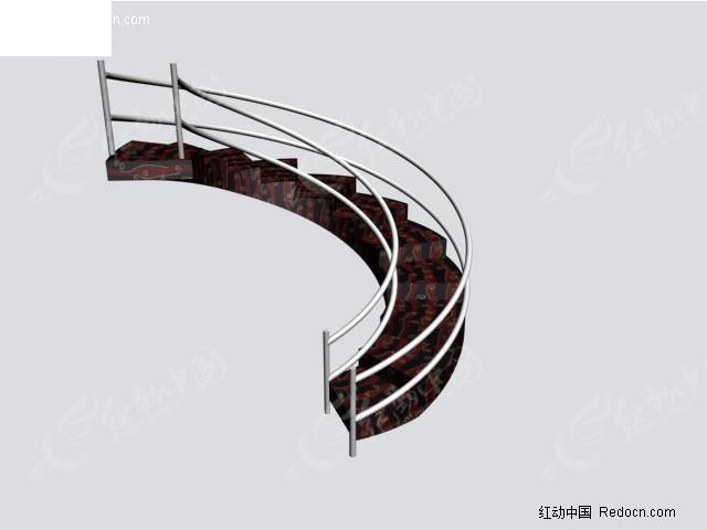 楼梯3d模型图片