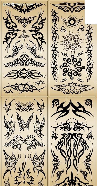 手绘像素小纹身