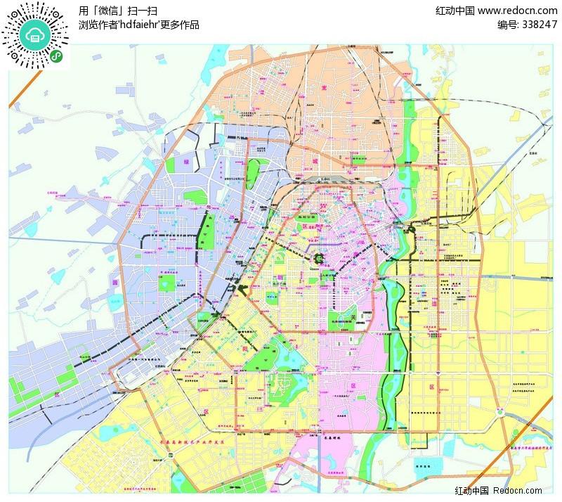 长春市城区-矢量地图其他免费下载_其他素材