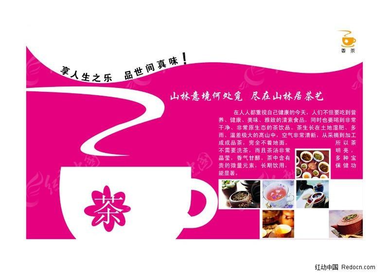 茶叶宣传册内页矢量图_画册设计