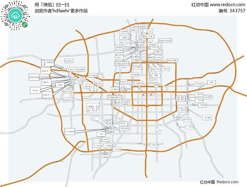 西安车市-矢量地图