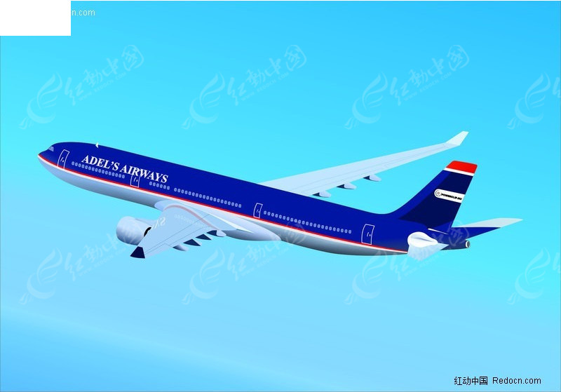 矢量素材 矢量航空飞机