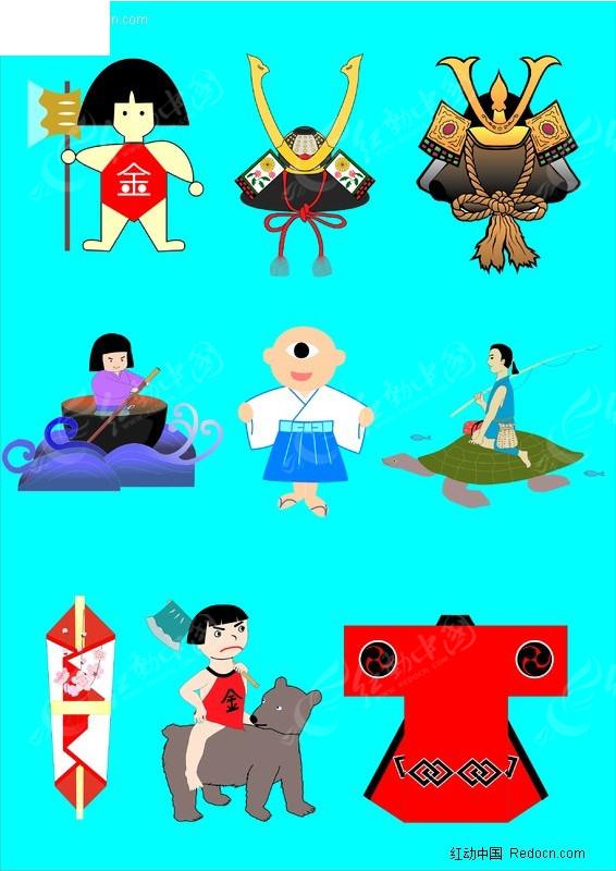 日本文化素材矢量图_传统图案