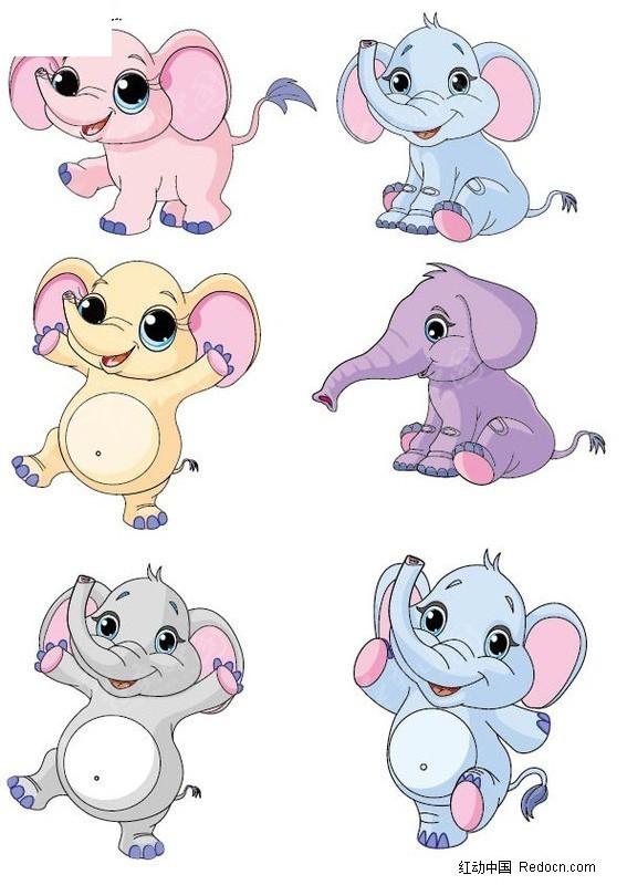 大象 卡通动物 卡通象 卡通人物 卡通人物图片 漫画人物 人物素材