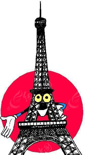 埃菲尔铁塔简笔画卡通