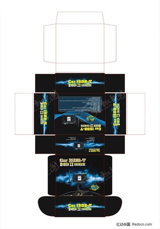 广告设计矢量模板 包装设计 isdb-t彩盒  请您分享: 素材描述:红动网