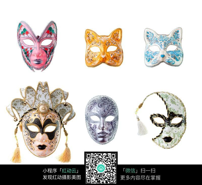各种样式形状的面具图片