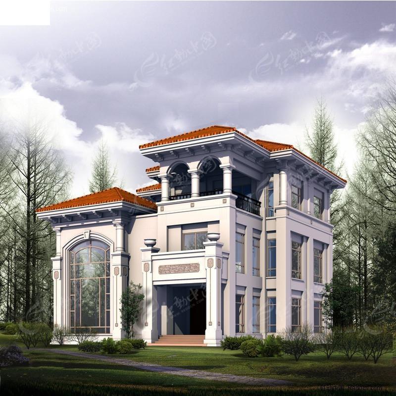 别墅3d模型_建筑模型