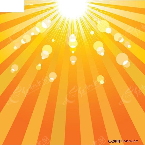 太阳阳光背景矢量素材-2